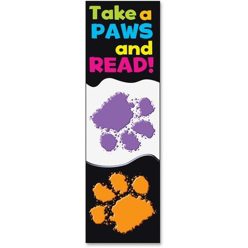 TREND 12034 Take-a-Paws and Read Bookmark