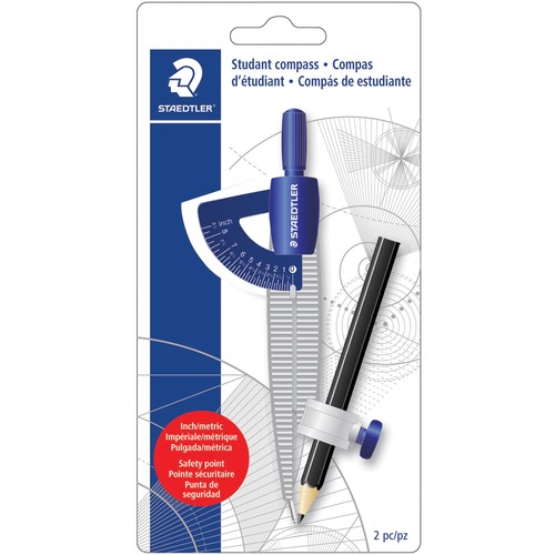 Staedtler 557SCBKA6 Student Compass w/Pencil