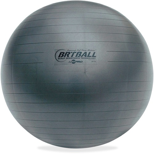 Champion Sports BRT65 Gray Training/Exercise Ball