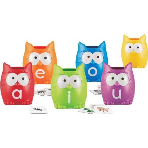 Learning Resources 5460 Vowel Owls Sorting Set
