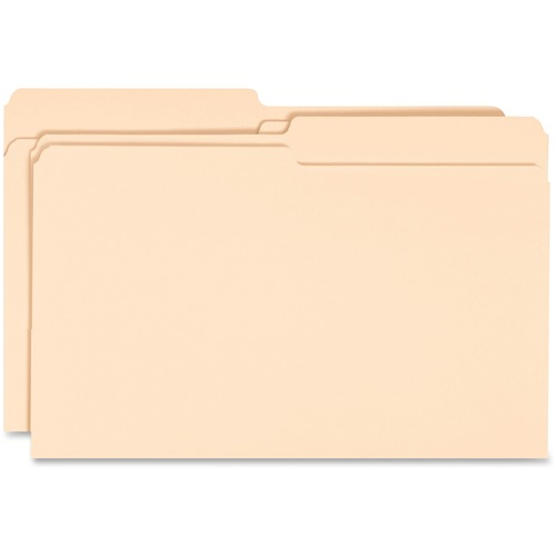 Business Source 99718 1-ply Tab Legal Size Manila File Folders