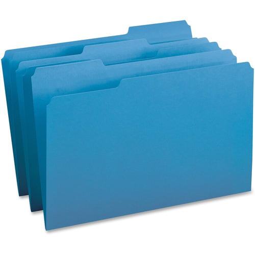 Business Source 99719 1/3-cut Tab Legal Colored File Folders