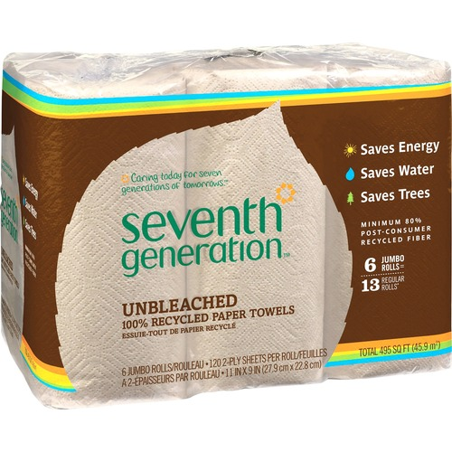 Seventh Generation 13737CT Natural Unbleached Paper Towels