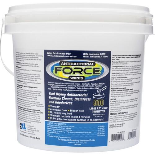 2XL L400 Antibacterial Force Wipes Dispensing Bucket