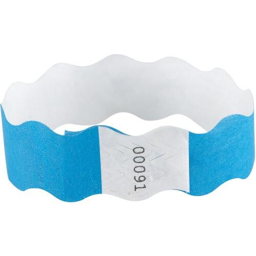 Baumgartens 85330 Printable Wristbands w/Adhesive 100/PK Blue