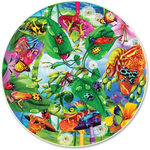 A Broader View 372 Creepy Critters 500-pc Round Puzzle