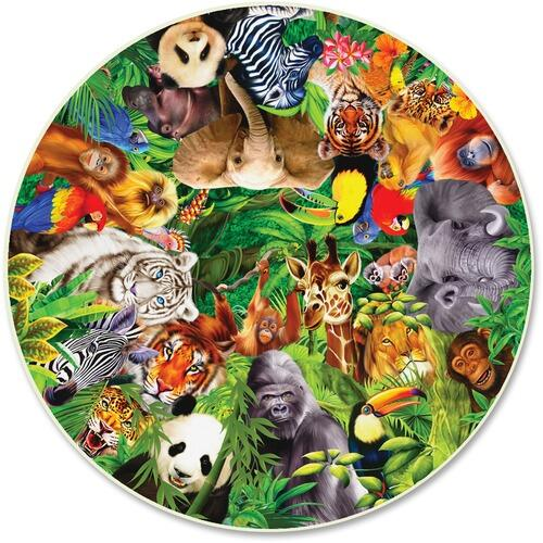 A Broader View 373 Wild Animals 500-pc Round Puzzle