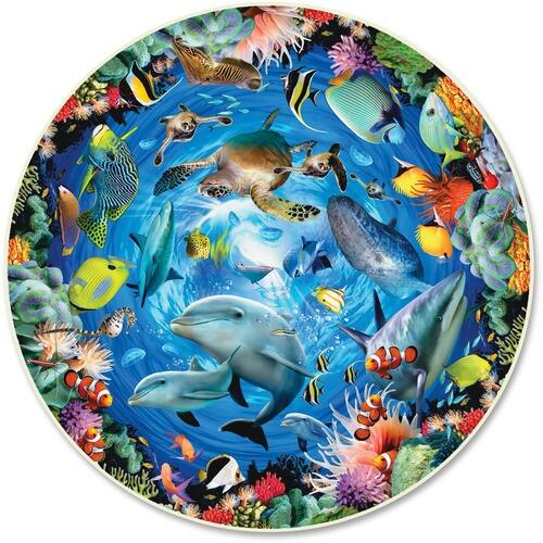A Broader View 383 Ocean View 500-piece Round Puzzle
