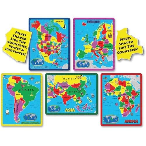A Broader View 659 Continent Puzzle Combo Pack