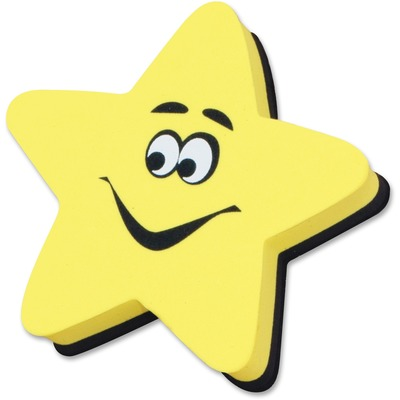 Ashley 10016 Yellow Star Magnetic WhiteBoard Eraser