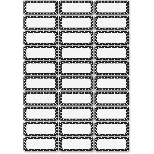 Ashley 10080 Dry Erase B/W Dots Nameplate Magnets