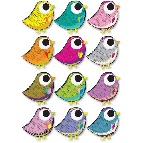 Ashley 10084 Scribble Bird Design Dry Erase Magnet