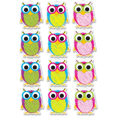 Ashley 10088 Scribble Owls Design Dry-erase Magnet