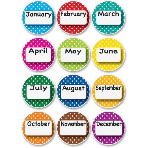 Ashley 10095 Dotted Border Months Die-cut Magnets