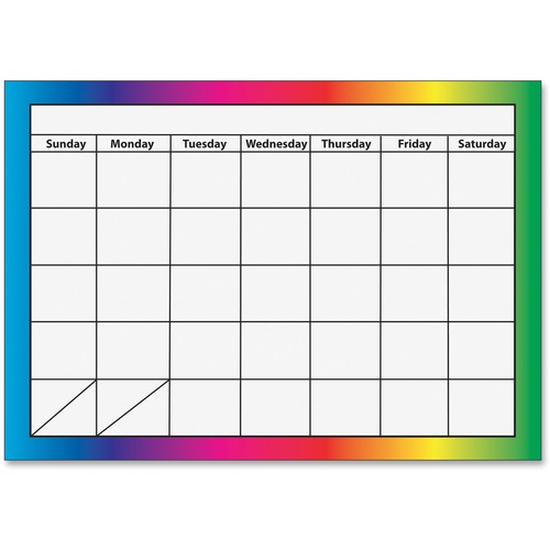 Ashley 10096 Magnetic Monthly Rainbow Calendar