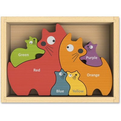 BeginAgain I1502 Toys Cat Family Bilingual Puzzle