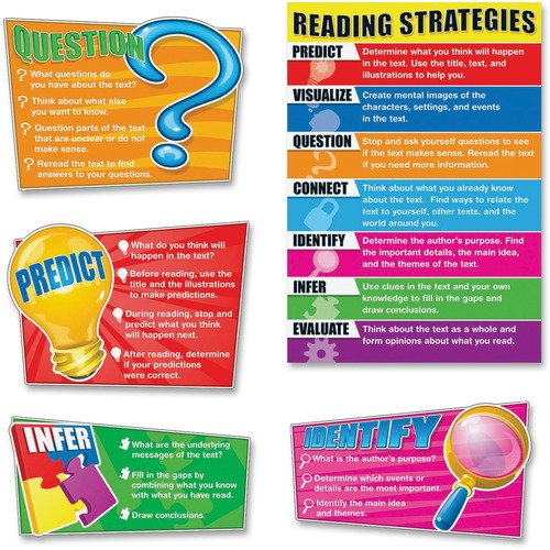 Carson-Dellosa 110103 Reading Strategies Bulletin Board Set