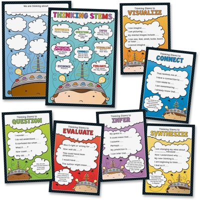 Carson-Dellosa 110286 Thinking Stems Bulletin Board Set