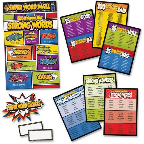 Carson-Dellosa 110311 Super Power/Word Choices Bulletin Board Set