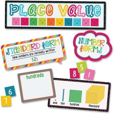 Carson-Dellosa 110331 School Pop Place Val Mini Bulletin Brd Set