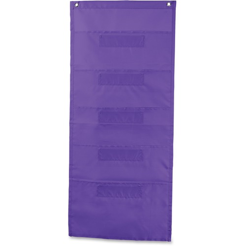 Carson-Dellosa 158563 File Folder Storage Purple 5-Pocket Chart