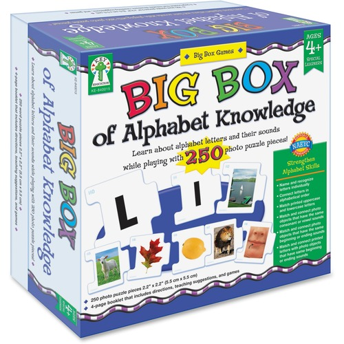 Carson-Dellosa 840015 Big Box of Alphabet Knowledge Board Game