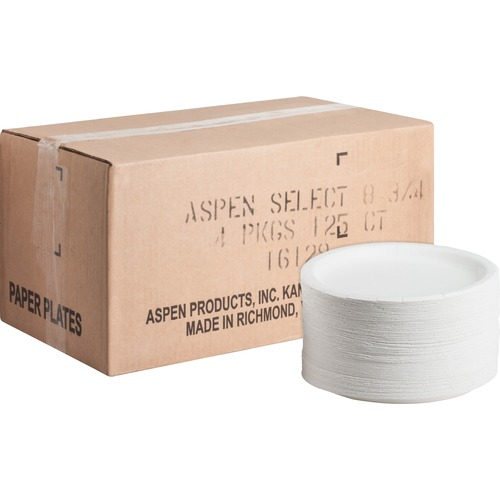 AJM CP9AJCWWH1CT Heavy-duty Coated Paper Plates