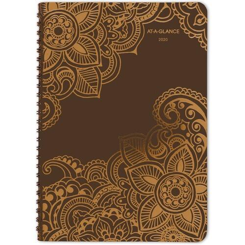 AT-A-GLANCE 551200 Henna Premium Wkly/Mthly Planner