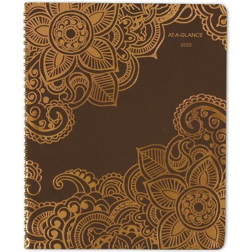 AT-A-GLANCE 551905 Henna Wkly/Mthly Appointment Planner