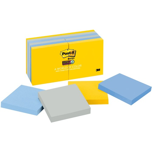 New York Collection Post-it 65412SSNY Super Sticky Notes