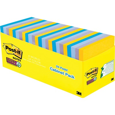 New York Collection Post-it 65424SSNYCP Super Sticky Notes