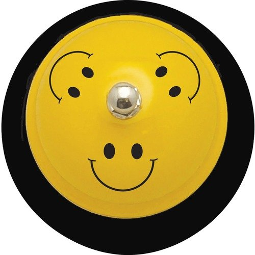 "Ashley 10526 Smiley Face Design 3"" Base Hand Bell"