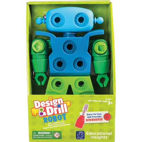 Educational Insights 4127 Design & Drill Robot Play Set