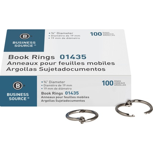 Business Source 01435 Standard Book Rings