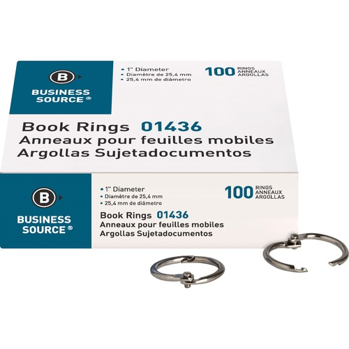 Business Source 01436 Standard Book Rings