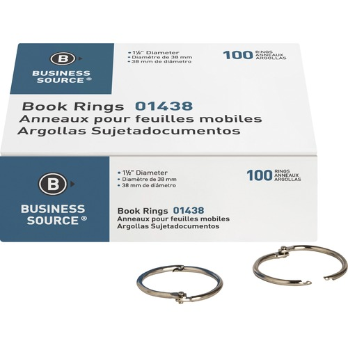 Business Source 01438 Standard Book Rings