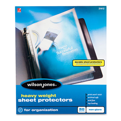 Acco Brands 21412 Wilson Jones Heavy Weight Sheet Protector