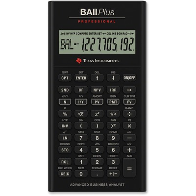 Texas Instruments BAIIPLUSPRO BAII Plus Professional Calculator