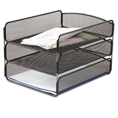 Safco 3271bl Onyx Desk Tray