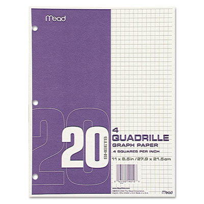Mead 19010 Quadrille Graph Paper