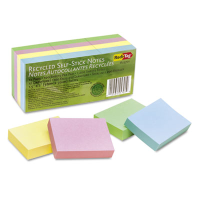 Redi-Tag 25701 100% Recycled Self-Stick Notes