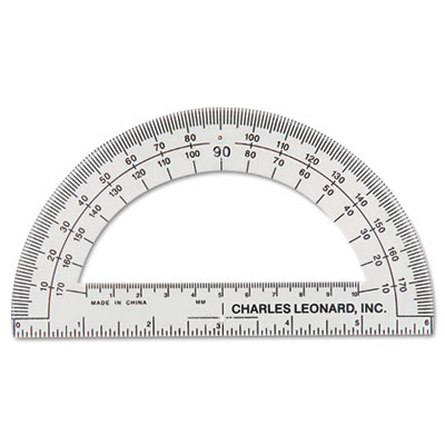 Charles Leonard 77106EA Open Center Protractor