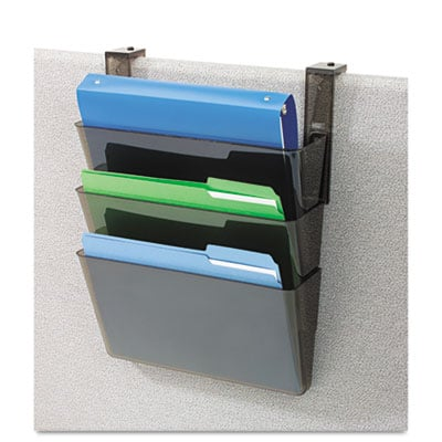 deflecto 73502RT Docupocket Three-Pocket File Partition Set with Brackets