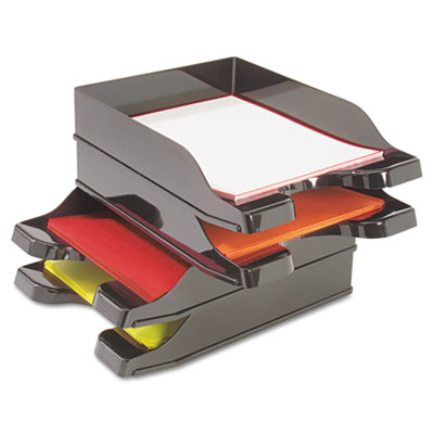 deflecto 63904 Docutray Multi-Directional Stacking Tray Set