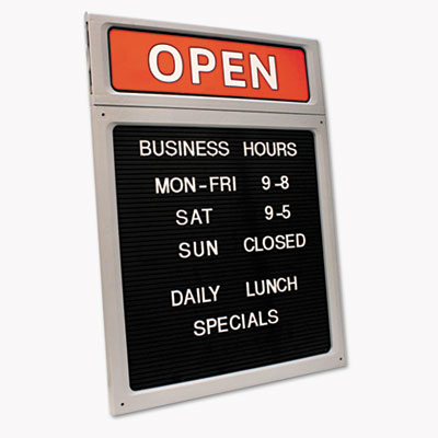 Signs sign holders cosco 098221 message business hours sign