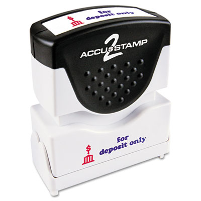Cosco 035523 ACCUSTAMP2 Pre-Inked Shutter Stamp with Microban