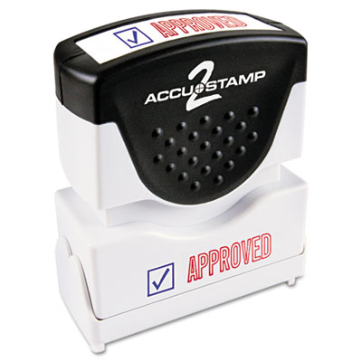 Cosco 035525 Accustamp2 Pre-Inked Shutter Stamp with Microban