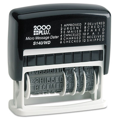2000 PLUS 011090 Self-Inking Micro Message Dater