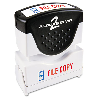 Cosco 035524 ACCUSTAMP2 Pre-Inked Shutter Stamp with Microban