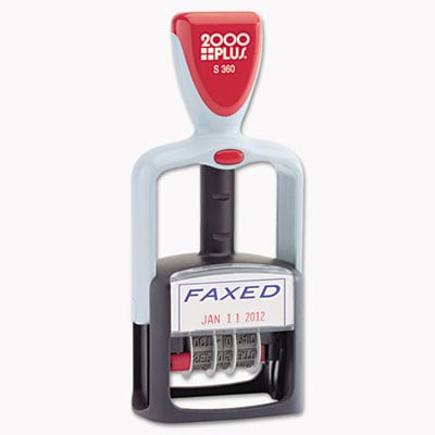 COSCO 011032 2000 PLUS Self-Inking Two-Color Word Dater
